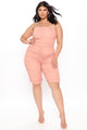 Dare To Glare Tube Romper - Mauve