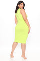 Always Doing Me Mini Dress - Lime