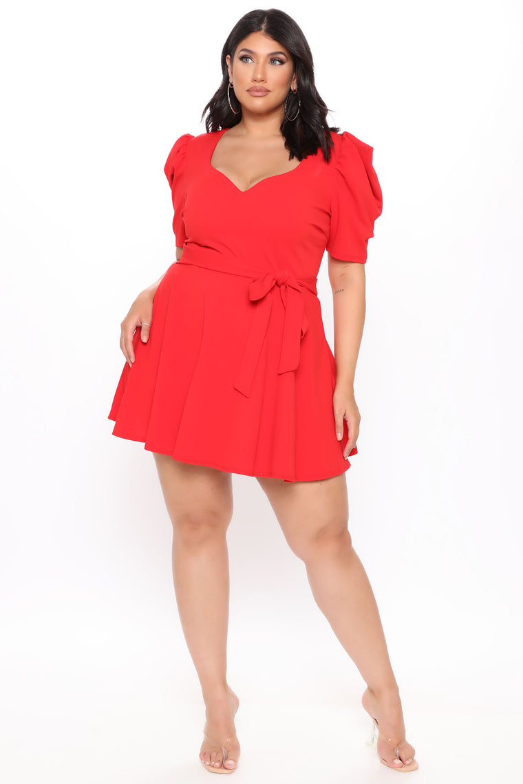 Hidden Top Secret Romper - Red