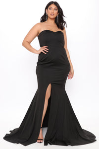 Feeling Exquisite Mermaid Dress - Black Angle 6