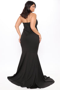 Feeling Exquisite Mermaid Dress - Black Angle 8