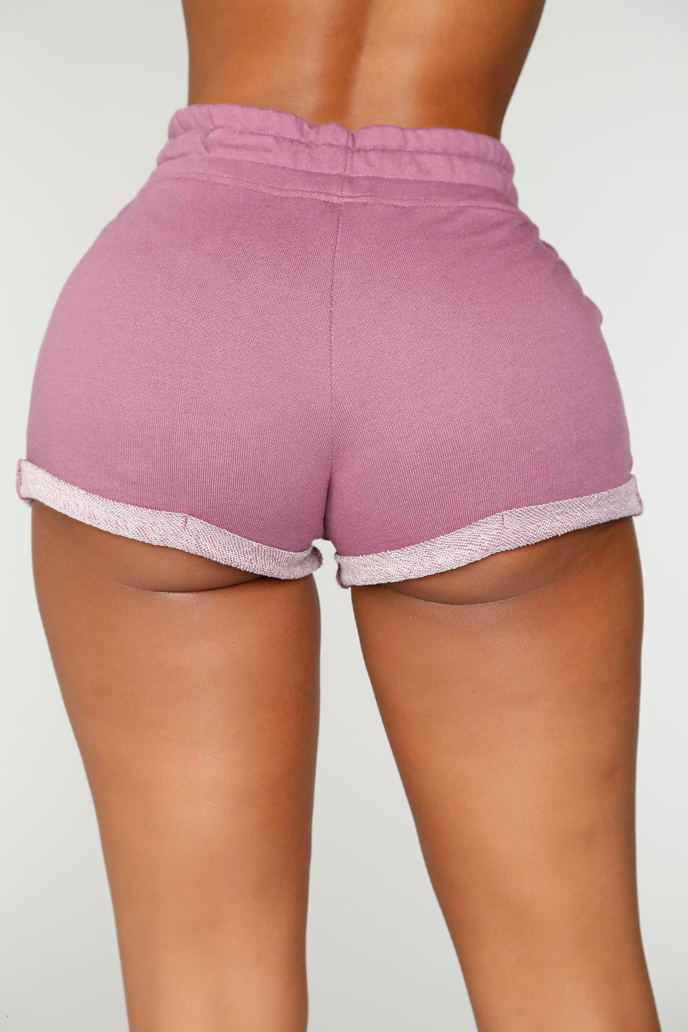 Myra Roll Up Shorts - Purple