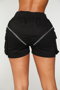Charlee Cargo Shorts - Black