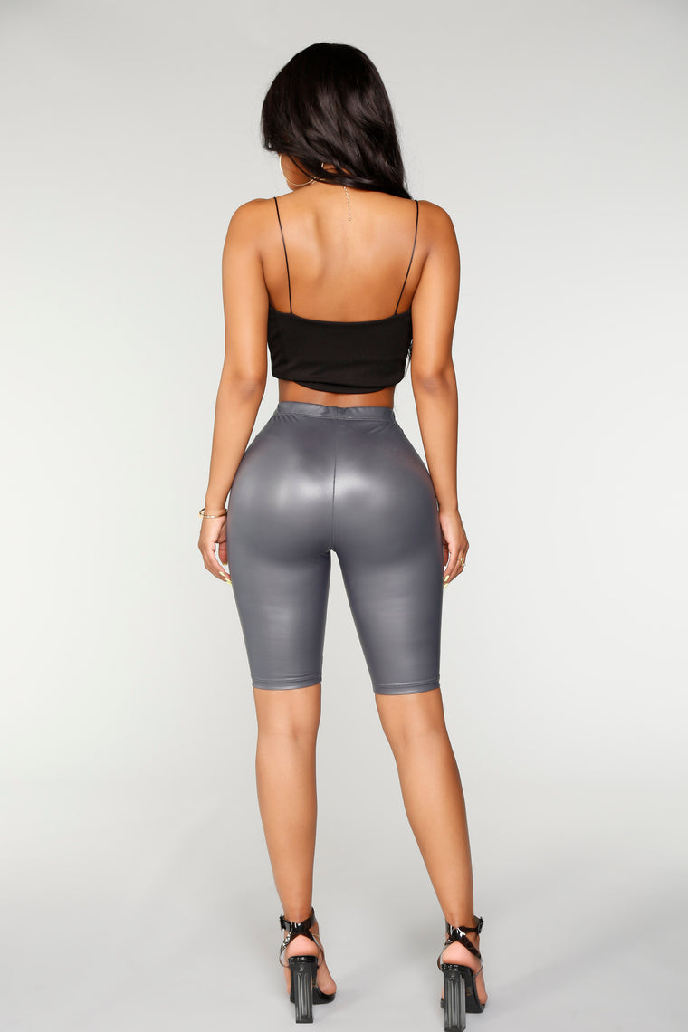 Alayna Biker Shorts - Dark Grey