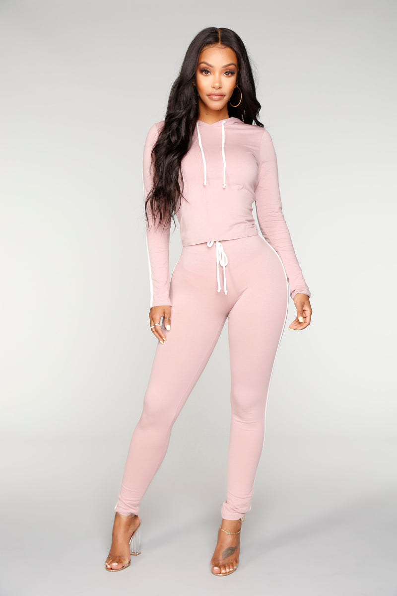 Tennis Time Long Sleeve Set - Mauve