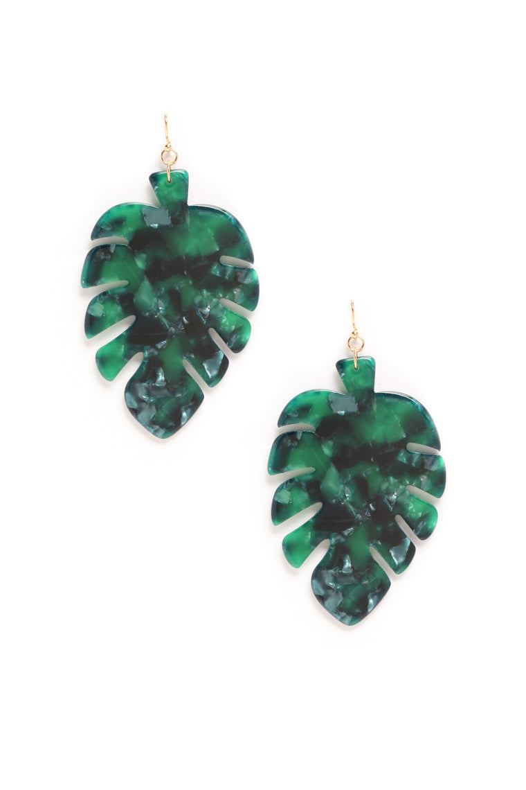 Don't Leaf Me Earrings - MultiColor