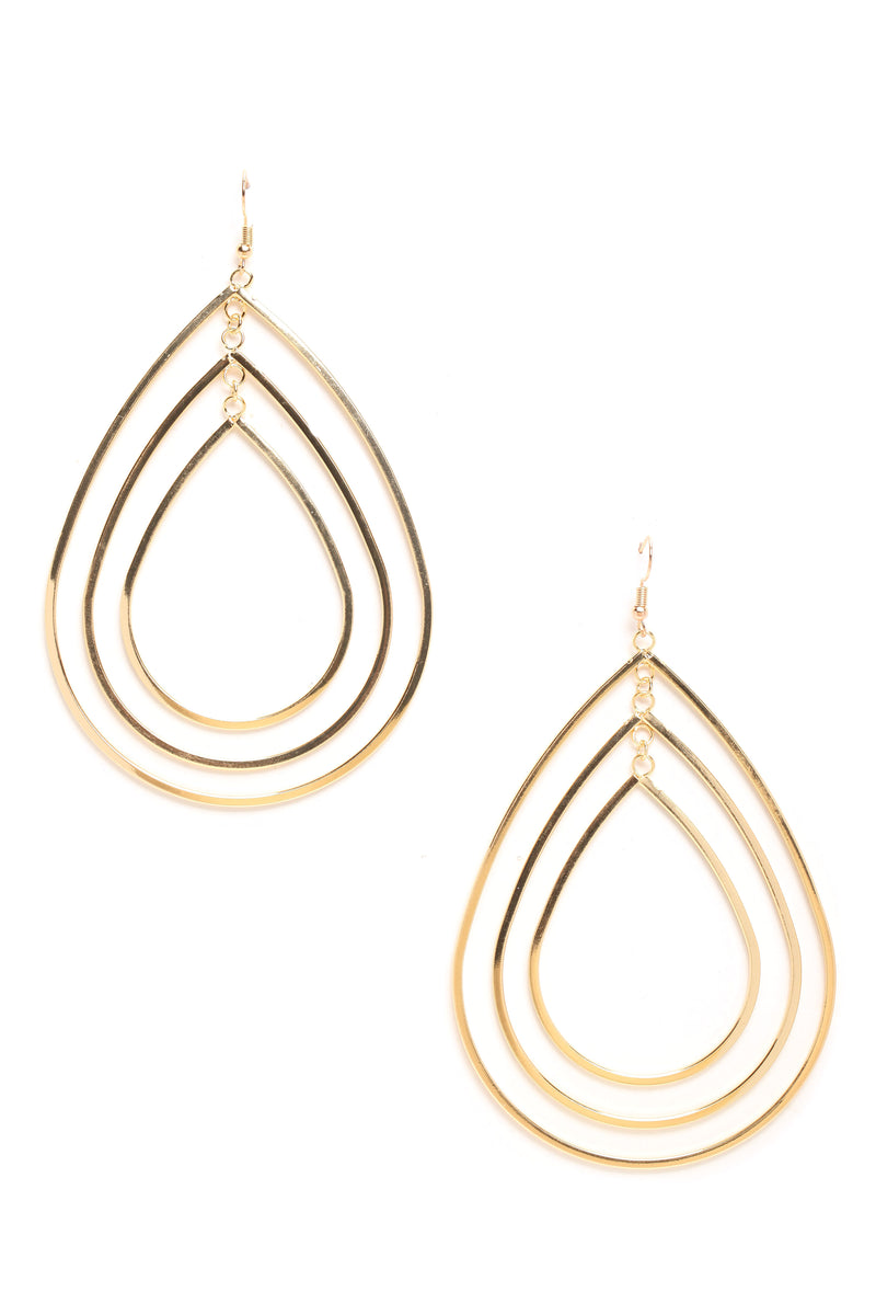 Supermodel Strut Earrings - Gold