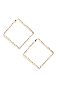 Diamonds Are Forever Earrings - Gold