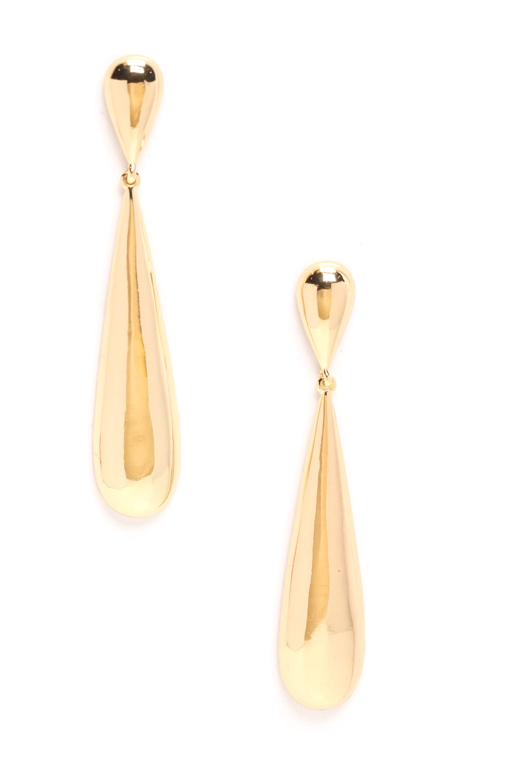 Run Me Dry Earrings - Gold