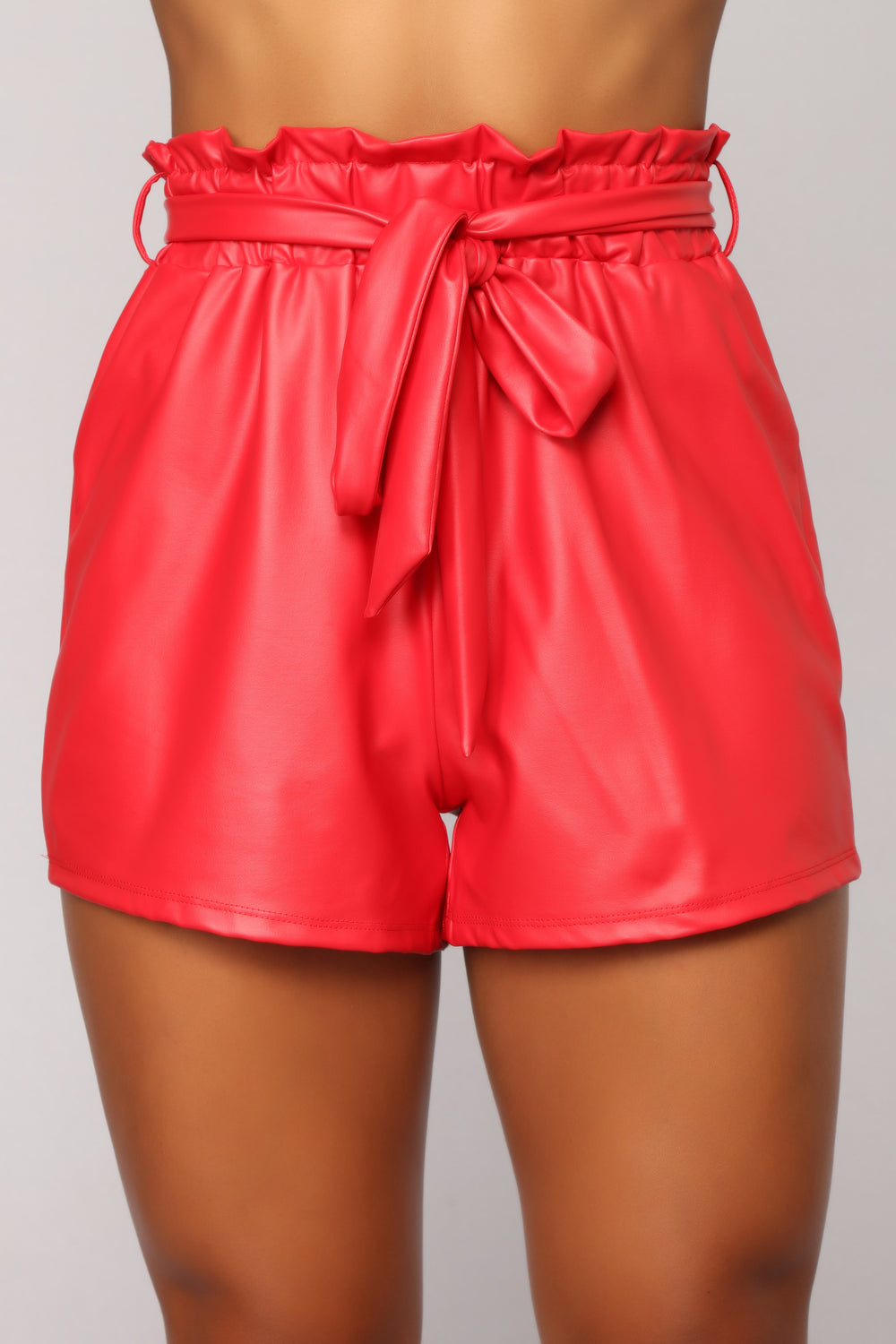 Celeste Tie Waist Shorts - Red
