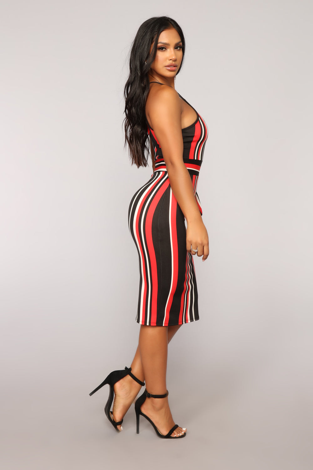 Hot Dynamite Cutout Dress - Black/Red