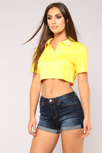 Country Club Cutie Top - Yellow