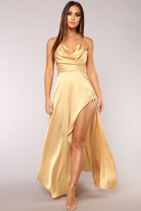 Rare Feeling Dress - Gold