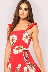 Be Mine Forever Maxi Dress - Red