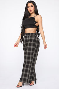 In My Chain Crop Top - Black