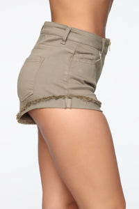 The Way I Feel When I'm With You Shorts - Olive