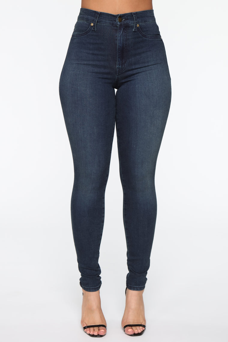 Flex Game Strong High Rise Skinny Jeans - Dark Tint