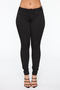 Flex On Them Low Rise Skinny Jeans - Black