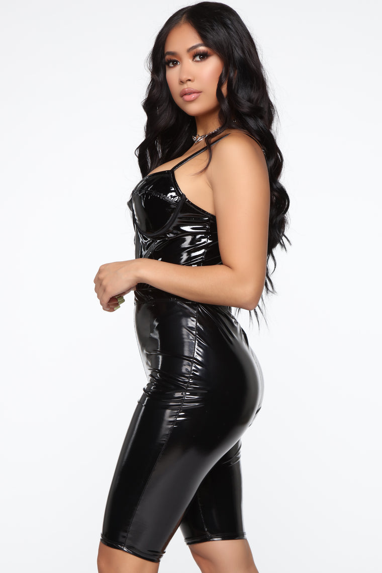 Need Your Lovin' Latex Bodysuit - Black