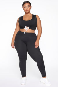 All Tied Up Right Now Leggings - Black