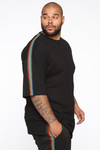 Show Your Rainbow Short Sleeve Tee - Black