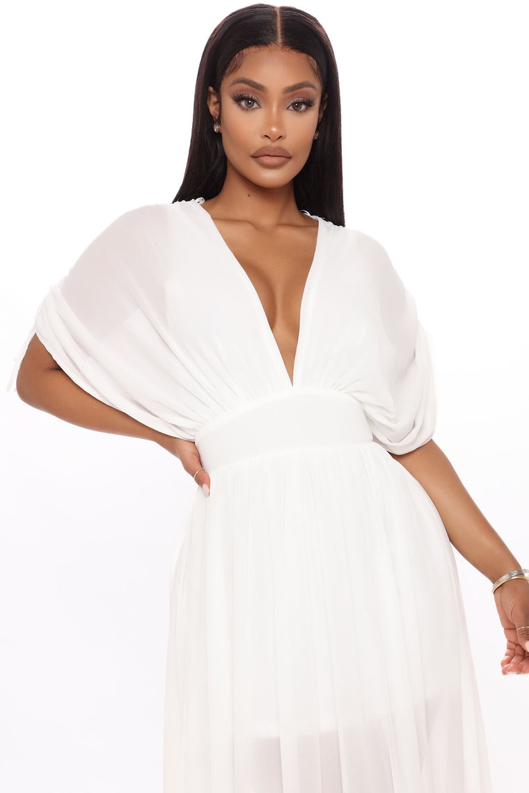 Expected You Here Maxi Dress - Ivory