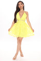 Stunning Spring Mini Dress - Yellow