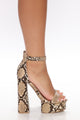 You're A Beautiful One Heeled Sandals - Camel/combo