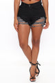 Can't Stop Now Denim Shorts - Black
