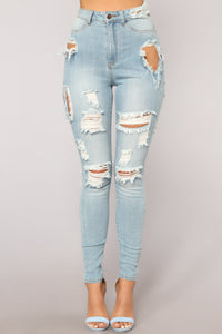 Far Out Man Skinny Jeans - Light Blue Wash