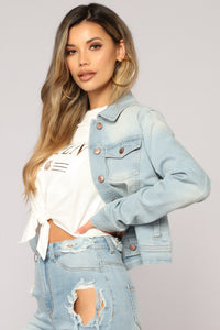 Easy Come Easy Go Denim Jacket - Light Wash