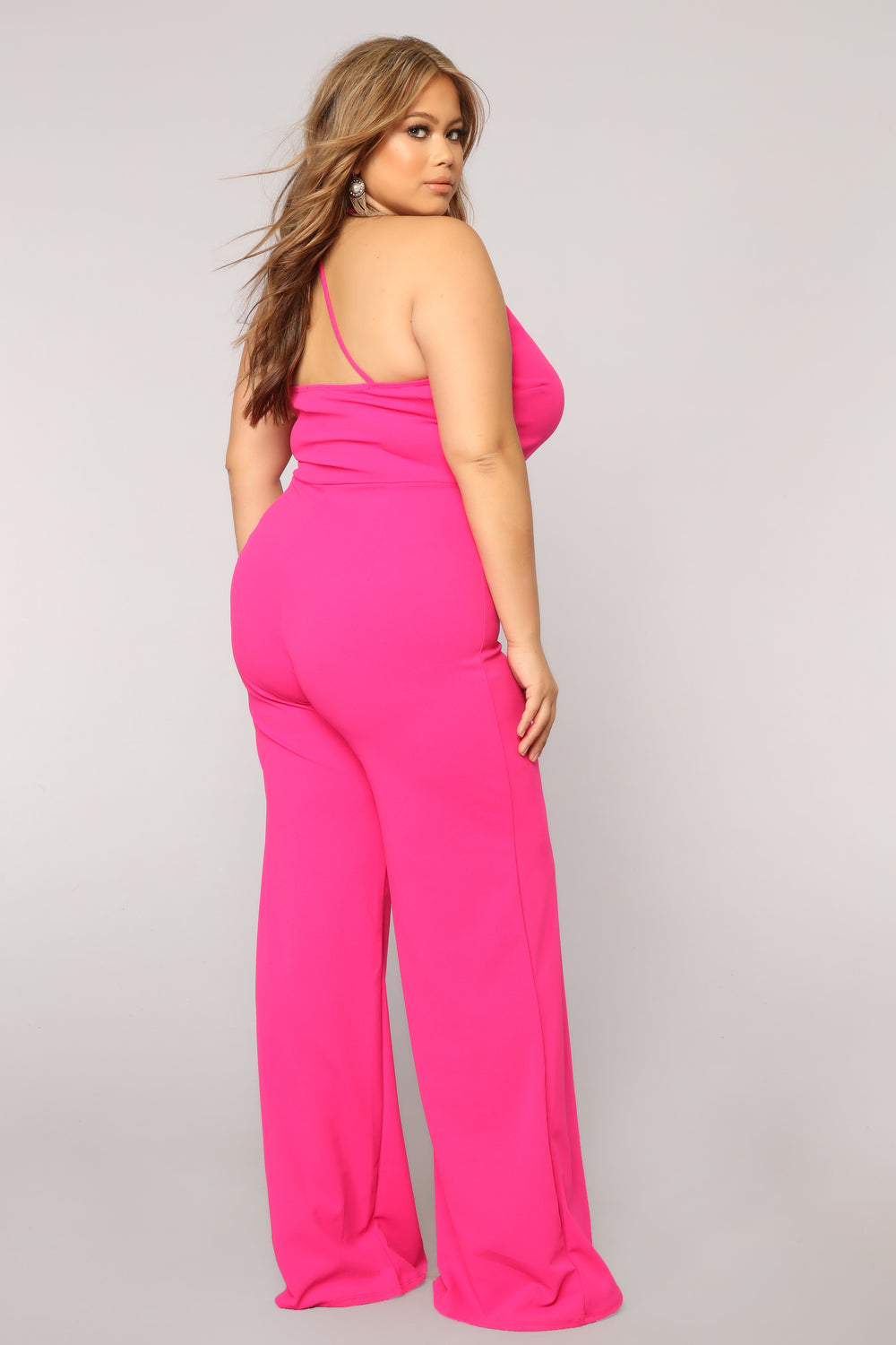 Deep Conversations Jumpsuit - Fuchsia