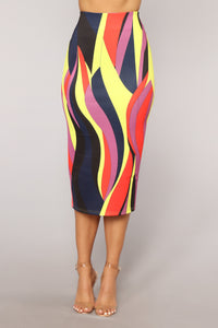 Come My Way Skirt - Red Multi