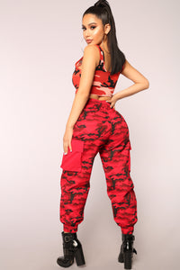 Cadet On Duty Cargo Pants - Red