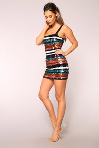 Night Star Sequin Dress - Multi