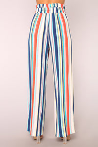 Hard To Forget Striped Pants - Blue Angle 6