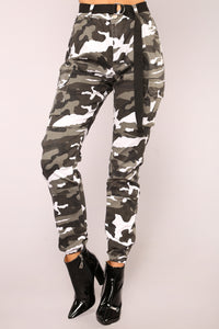 Don't Call Me High Rise Joggers - City Camo