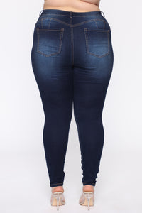 Alexa II High Rise Skinny Jeans - Dark Denim Angle 6