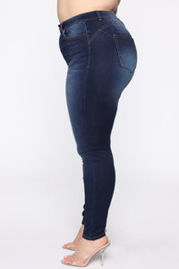 Alexa II High Rise Skinny Jeans - Dark Denim Angle 4