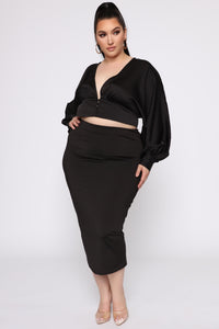 Chasing For Your Love Top - Black