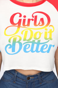 We Do It Better Top - White Angle 6