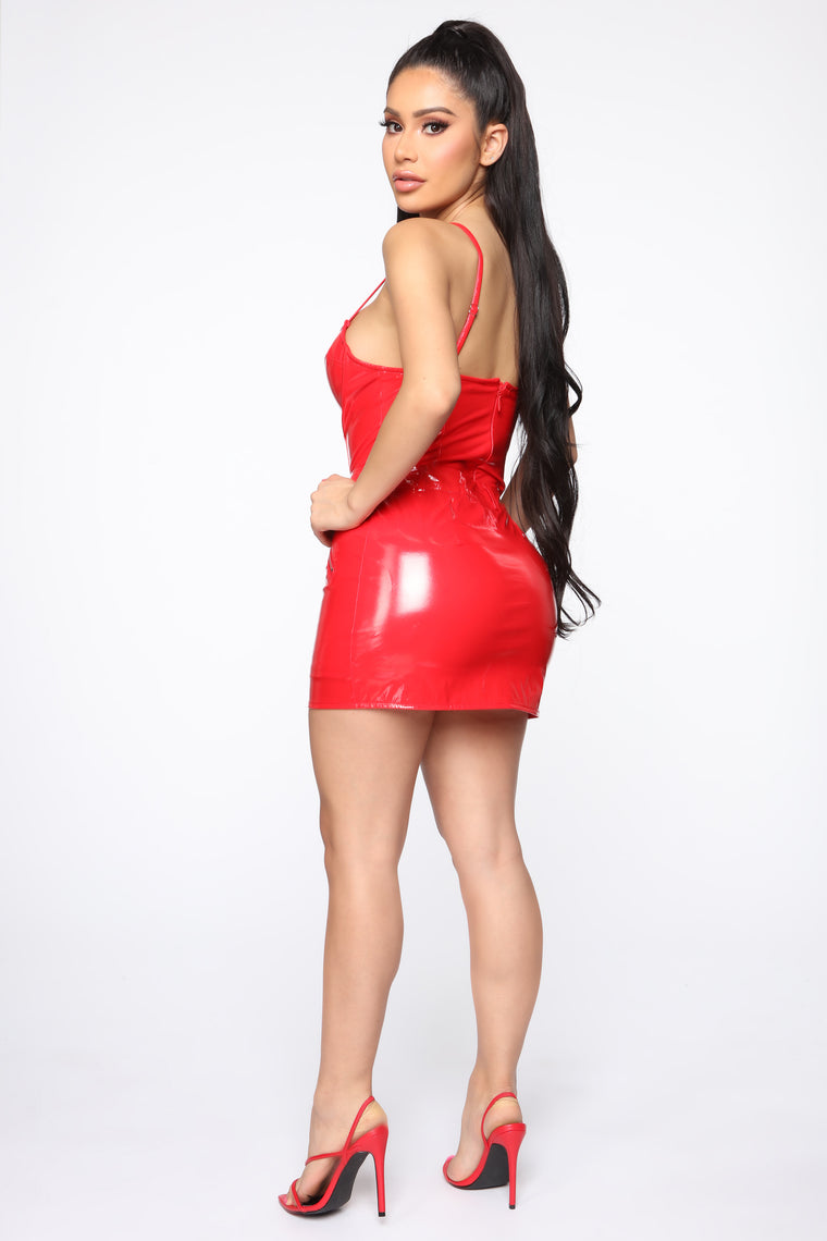 Need Your Lovin' Latex Bodysuit - Red