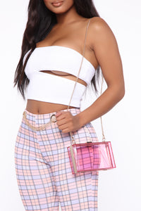 See Through You Clutch - Hot Pink