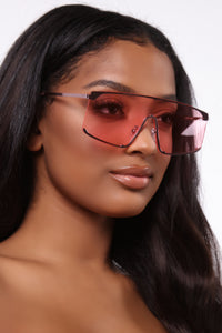 Looked Everywhere Sunglasses - Pink