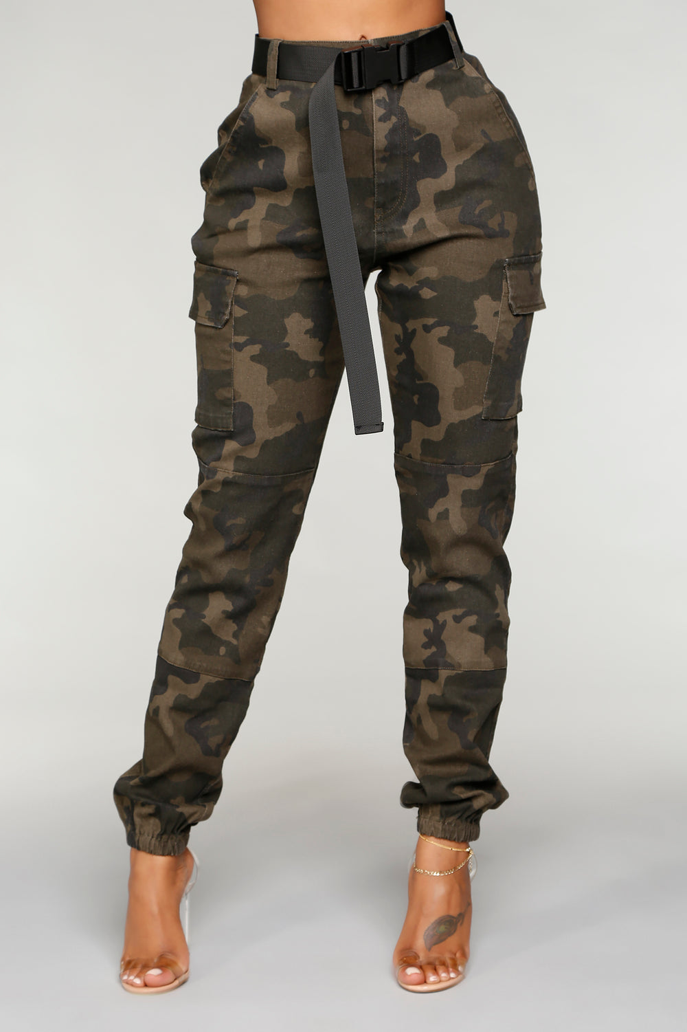 Kaliyah Camo Joggers - Olive