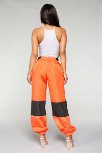 Love Lockdown Flight Joggers - Orange Angle 6