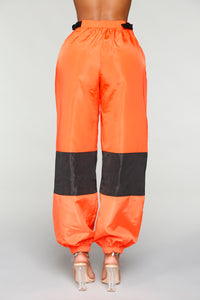 Love Lockdown Flight Joggers - Orange Angle 7