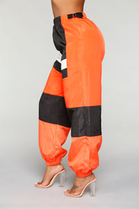 Love Lockdown Flight Joggers - Orange Angle 5