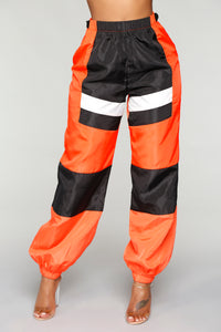 Love Lockdown Flight Joggers - Orange Angle 3