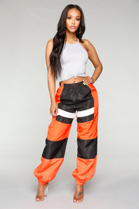 Love Lockdown Flight Joggers - Orange Angle 1